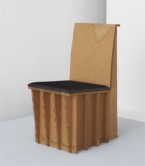 Joel stearns prototype cardboard chair 1990 - Muebles de carton ...
