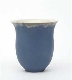 Artwork by Otto Lindig, Vase, Made of Glazed ceramic. Underside incised with artist's mark.