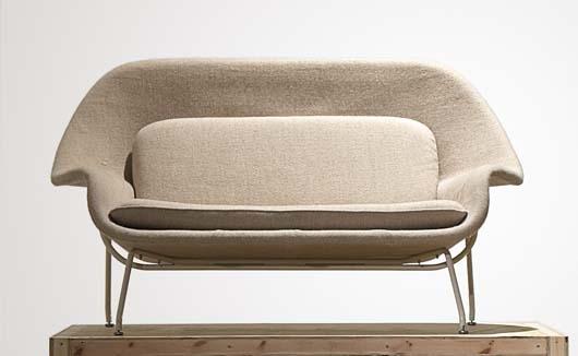 Artwork By Eero Saarinen Womb 70 Sofa Made Of Wool Fabric
