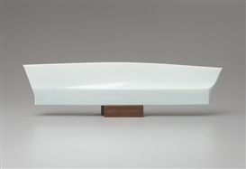 Artwork by Sueharu Fukami, 'Haruka', a celadon object, Made of Porcelain, celadon glaze, wood.