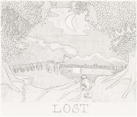 Artwork by Peter Land, Lost, Made of Graphite on paper.