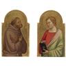 Bernardo Daddi, ST. JOHN THE EVANGELIST, ST. FRANCIS