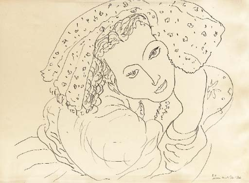 Henri matisse seated woman with hands behind - Coloriage matisse ...
