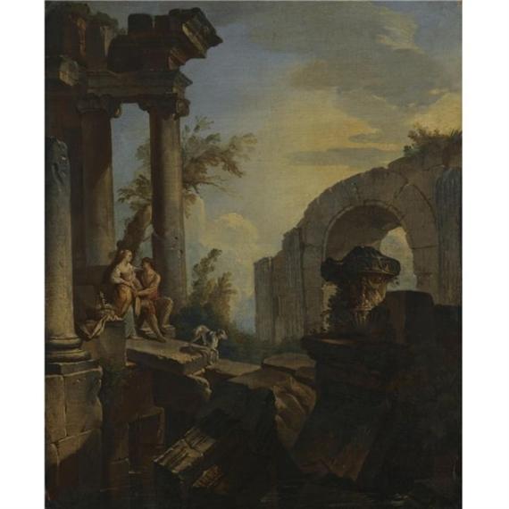 Giovanni Pannini An Architectural Capriccio With