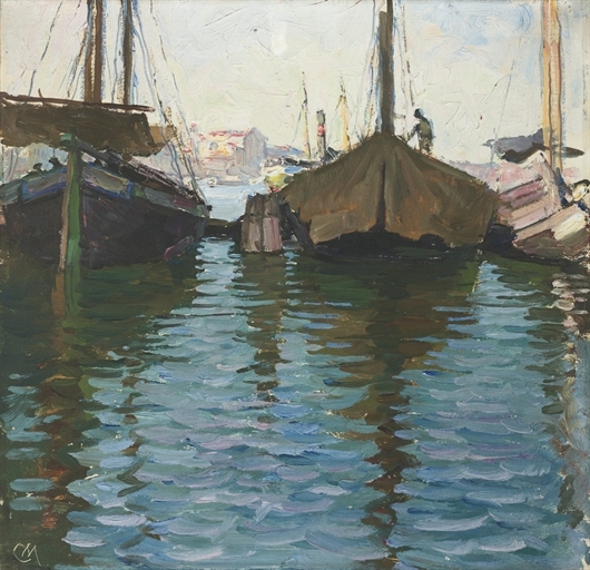 Artwork by Carl Moll, Venedig, Made of oil on panel