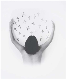 Artwork by Marta María Pérez Bravo, Viven del cariño (They are nurtured by affection), Made of Gelatin silver print.