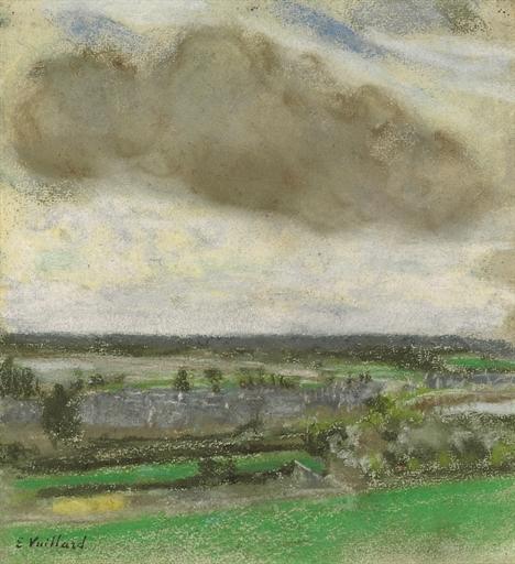 Artwork by Édouard Vuillard, Le nuage brun, Made of pastel on buff paper