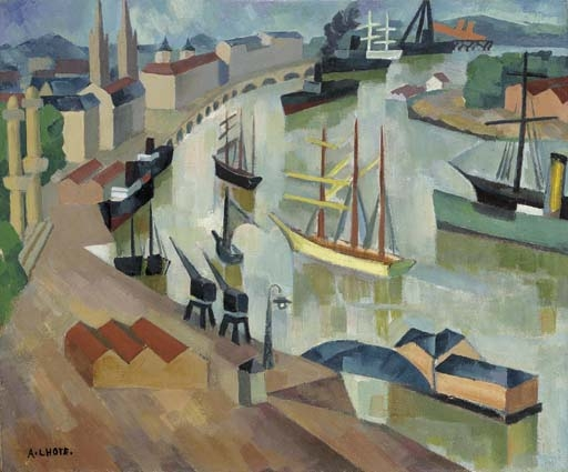 Artwork by André Lhote, Le port de Bordeaux, Made of oil on canvas