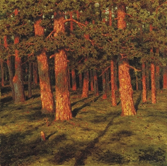 Ivan Federovich Choults 233 Pine Forest 1916 Oil