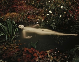 Artwork by Nadav Kander, Erin O'Connor (After Millais) , 2004, Made of Colour coupler print, printed 2009.