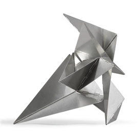 Artwork by Lygia Clark, Bicho, Made of hinged aluminium construction