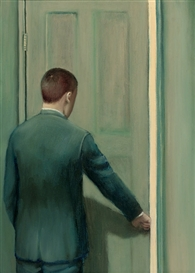 Artwork by John Kirby, The Door, Made of oil on canvas