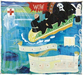 Artwork by Kerry James Marshall, Great America, Made of acrylic and printed paper collage on canvas