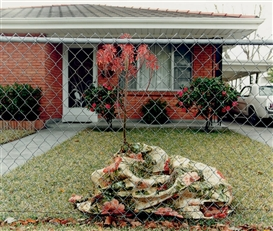 William Greiner, Floral Blanket, Metairie, LA, 1994, from Homefront Series