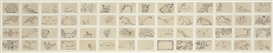 Artwork by Merce Cunningham, Untitled (Assorted Animals), Made of ink on paper