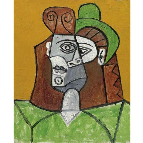 Picasso Pablo | FEMME AU CHAPEAU VERT (1947) | MutualArt