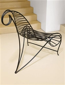 Artwork by Andre Dubreuil, A Welded and Painted Steel 'Spine' Chair, Made of steel, executed by A.D. Decorative Arts, London