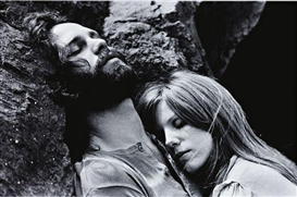 Artwork by Edmund Teske, Jim Morrison and Pamela Courson, Bronson Caves, Hollywood, California, Made of Limited-edition archival inkjet print, printed later