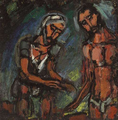 Artwork by Georges Rouault, Seigneur, c'est vous, je vous reconnais, Made of oil on paper laid down on canvas