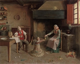 Artwork by Giovanni Sandrucci, The treat, Made of oil on canvas