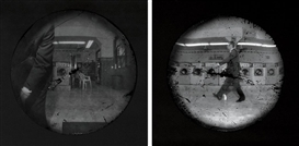 Artwork by Steven Pippin, Laundromat - Locomotion (Test Sequence), 1997, Made of 12 gelatin silver prints