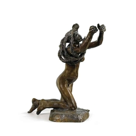 Artwork by Camille Claudel, LE DIEU ENVOLÉ, Made of bronze