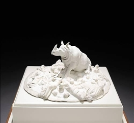 Artwork by Lucian Octavius Pompili, Untitled, Made of porcelain and mixed media