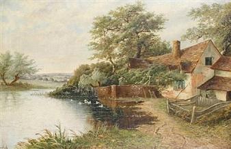 A riverside cottage By Octavius T. Clark