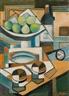 Alfonso Bonifacio, Still life, pears and rioja
