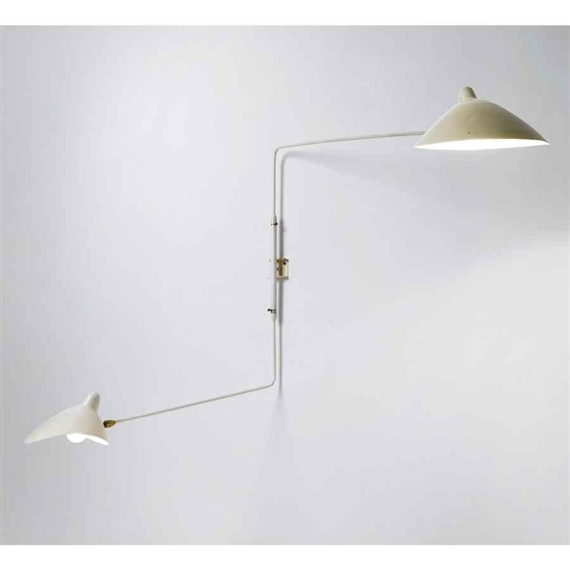 Serge Mouille - TWO-ARM WALL SCONCE, Circa 1954,...