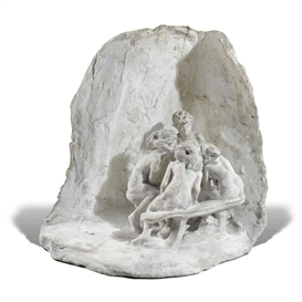 Artwork by Camille Claudel, LA CONFIDENCE, LES CAUSEUSES OR LES BAVARDES, Made of plaster