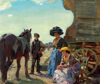 Sir Alfred James Munnings The Delaney Boys Mutualart