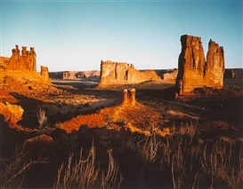 Artwork by Neil Folberg, Courtyard Towers, Colorado Plateau, Made of Cibachrome print