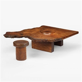 J. B. Blunk, coffee table and stool