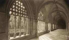 Artwork by Dick Arentz, Cloisters, Batalha, Portugal, Made of Platinum-Palladium print