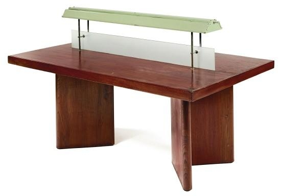 Artwork By Pierre Jeanneret, A LIBRARY TABLE WITH LIGHT, SMALL MODEL, Made  Of