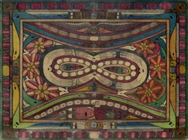 Artwork by Adolf Wölfli, Der harzformige, nitnixa und dohrn = Roosali = Chnantz, Made of Pencil and colored pencil on paper