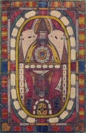 Artwork by Adolf Wölfli, Nogers-Kapelle bei Palermo, Made of Crayons and pencil on paper