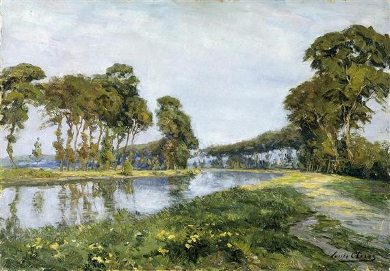 Louis Clesse Kanaal Te Jabbeke Oil Painting On