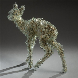 Artwork by Kohei Nawa, PIXCELL-BAMBI, Made of mixed media