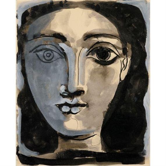 Picasso Pablo | PORTRAIT DE FEMME (1945) | MutualArt