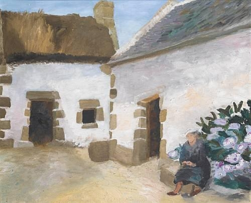 winifred nicholson carnac 1952 oil on canvas. Black Bedroom Furniture Sets. Home Design Ideas