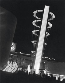 Artwork by Fred Archer, Westinghouse Display Building, World's Fair, New York, Made of Platinum print