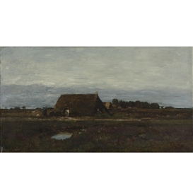 Artwork by László Paál, The Edge of the Village, Made of oil on panel