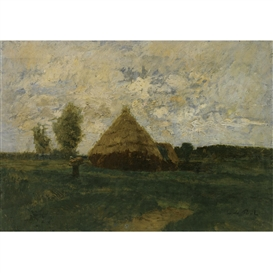 Artwork by László Paál, Meules de Foin (Haystacks), Made of oil on canvas
