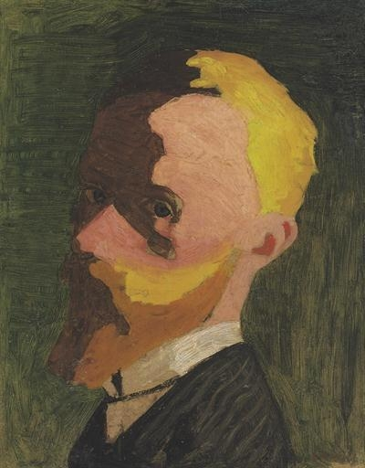 Artwork by Édouard Vuillard, Autoportrait, Made of oil on board laid down on panel