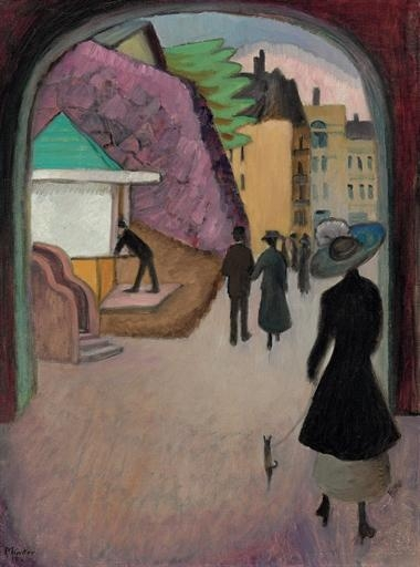 Artwork by Gabriele Münter, Mai-Abend in Stockholm, Made of oil on canvas
