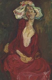 Chaim Soutine Le Grand Chapeau 1923 Oil On Canvas