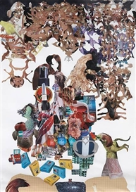 Artwork by Nick Lowe, Untitled, Made of collage on paper