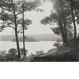 Artwork by Ray Mortenson, Group of three images, Beaver Camp (I and II); Spring Lake, Made of Black and white prints on Ektalure